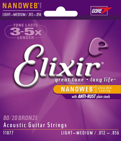 ELIXIR 11077  Nanoweb Light Medium .012/.056