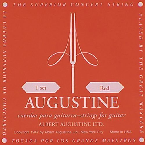 AUGUSTINE-RED  Normal Tension/ Clear & Silver