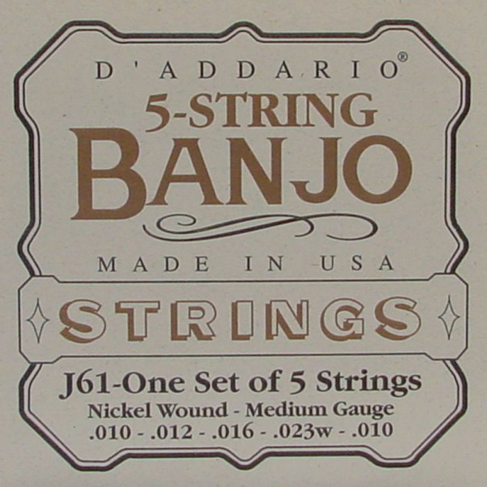 D'Addario J-61 Banjo snaren .010  5-string medium