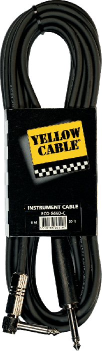 Gitaarkabel ECO-G66D/C Yellow Cable Jack-Jack/6