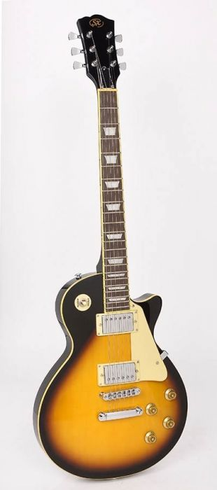 Electrische Gitaar SX EE3-VS Les Paul Model Vintage Sunburst 2 Humbuckers