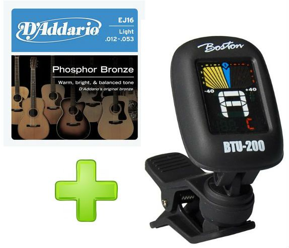 D'Addario EJ16 Phosphor Bronze Light 012-053