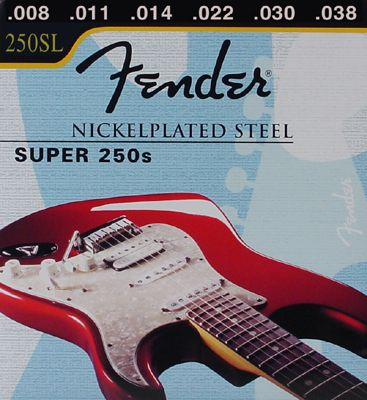 FENDER-250SL  Super 250's Nickel Roundwound .008/.038