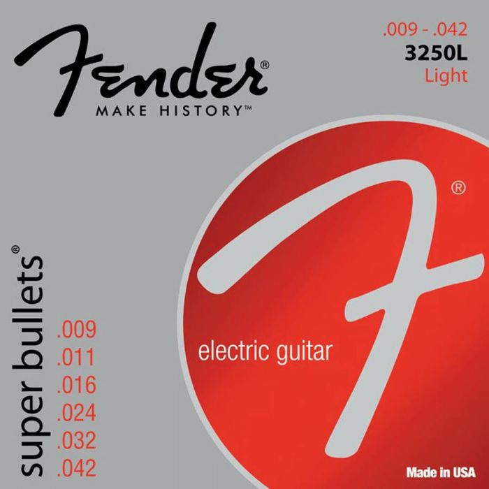 FENDER-3250L  Super Bullets Nickel Roundw .009/.042