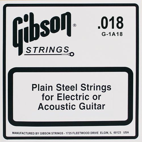 Gibson Losse snaar PL018  Plain Steel