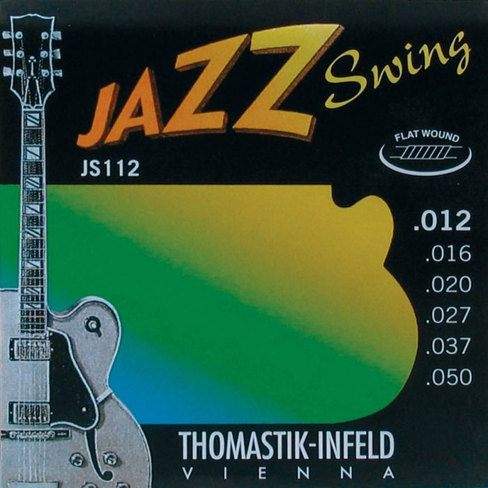 Thomastik THJS-112 Jazz Swing snarenset elektrisch Flatwound .012/.050