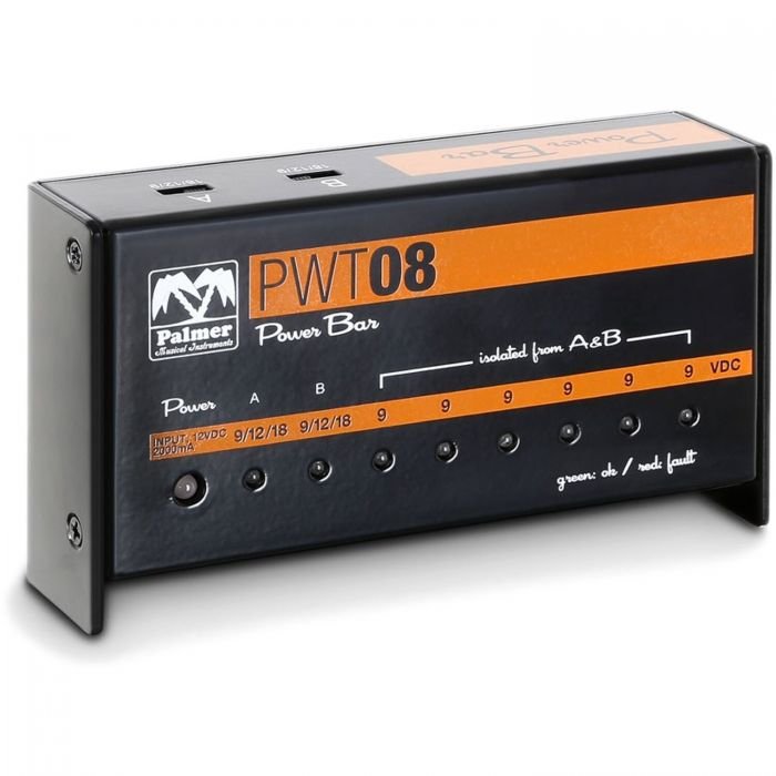 PALMER PWT08 PEDALBOARD MULTI-VOEDING 2000mA over 8 uitgangen!