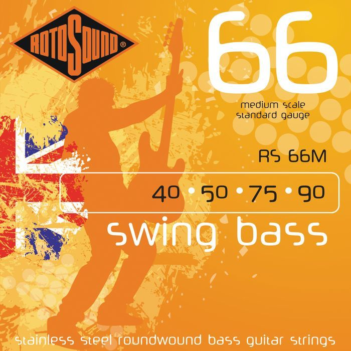 Rotosound RS-66-M Swingbass/Roundwound/Medium .040/090