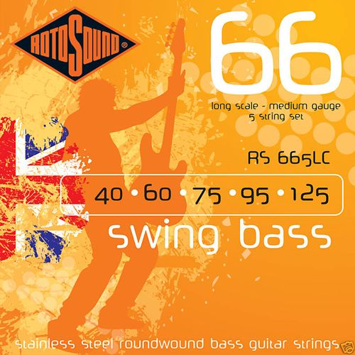 Rotosound RS-665-LC Swingbass Longscale 5 Snarig .040/125