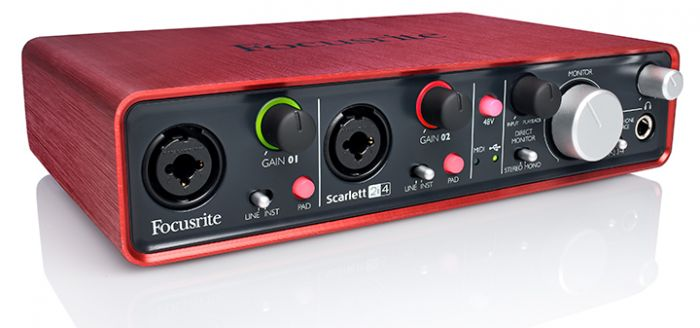 Focusrite Scarlett 2in4 out Geluidskaart voor home recording