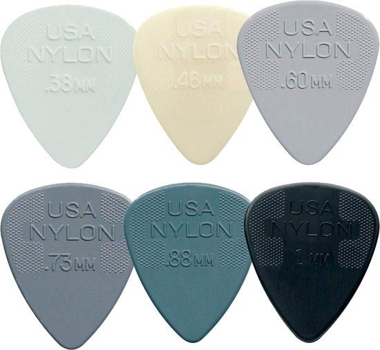 Dunlop plectrum Standard Nylon SET 0.38mm-1.00mm 6-pack MIX ***SALE***