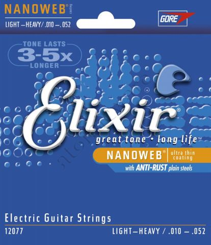 ELIXIR 12077  Nanoweb Light-Heavy .010/.052w