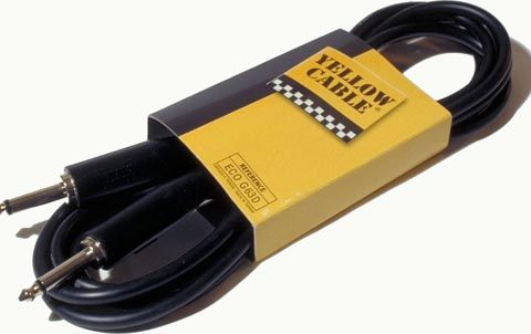 Gitaarkabel  ECO-G63D Yellow Cable 3 meter