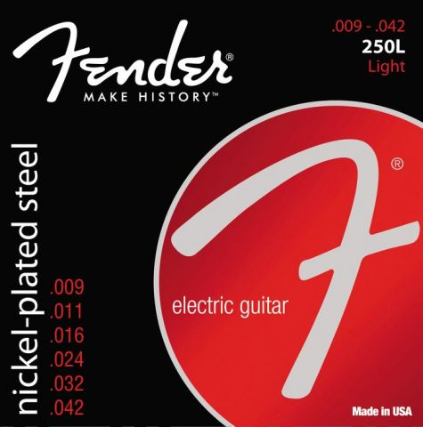 FENDER-250L  Super 250's Nickel Roundwound .009/.042