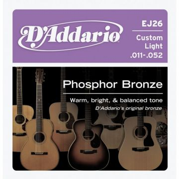D'Addario EJ26 Phosphor Bronze Custom Light 011-052